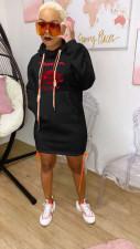 Casual Hooded Long Sleeve Drawstring Hoodie Dress FST-FA7138