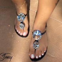 Shining Diamond Crystal Slippers Flip Flops Sandals MYAF-9254