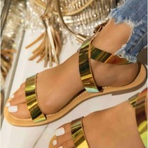 Shiny Casual Beach Comfortable Flat Slippers Sandals MYAF-9330