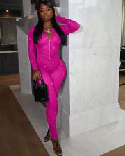 Fashion Sexy Mesh Print Jumpsuit NYF-8080
