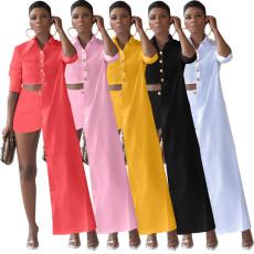 Fashion Casual Irregular Shirt Two Piece Sets MX-1205