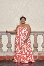 Plus Size Printed Sleeveless Sling Maxi Dress BMF-078