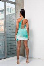 Tie Dye Print Sexy Slim Mini Dress DFNA-5204