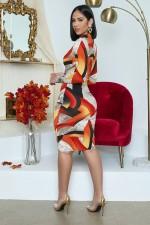 Plus Size Long Sleeve Hollow Midi Dress BYMF-60062