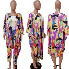 Casual Printed Split Irregular Loose Cloak Coat LSD-81021