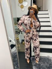 Casual Printed Shirt And Straight Pants 2 Piece Sets SFY-2130