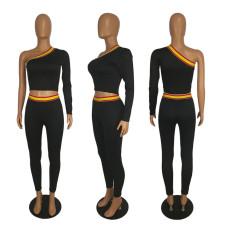 Fashion Single Sleeve Pencil Pants Two Piece Sets SHE-7130