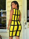 Sexy Plaid Sleeveless Bodycon Dress MZ-2047