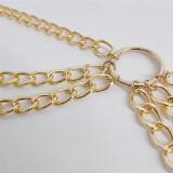 Sexy Three Layer Circle Metal Waist Chain BYCF-2081