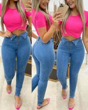 Denim Mid-Waist Skinny Jeans Pants ORY-5174-1