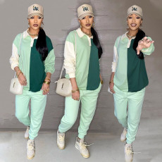 Cassual Long Sleeve Two Piece Pants Set SGXF-60039