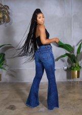 Denim Hole Flared Jeans Pants LA-3280