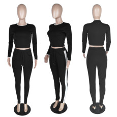 Casual Long Sleeve Two Piece Pants Set SNIF-568046