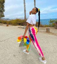 Colorful Printed Pocket Casual Long Pants ZDF-31163