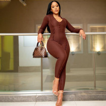Sexy Long Sleeve Tight Jumpsuit HMS-5510