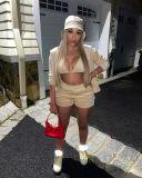 Sexy Velvet Hooded Coat+Bra Top+Shorts 3 Piece Sets NYMF-CL236