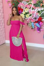 Sexy Solid Sleeveless High Waist Split Maxi Dress AIL-AL158