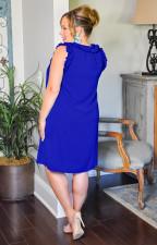 Plus Size Solid Sleeveless Midi Dress LINW-W9309