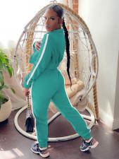 Casual Sports Plush Zipper Coat And Pants 2 Piece Sets MX-1208