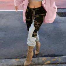 Camo Patchwork Plush Casual Pants XMEF-X1069