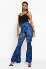Casual Printed Mid-Waist Flared Pants DFNA-5240