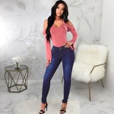 Plus Size Denim Stretch Skinny Jeans Pants HSF-2598