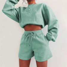 Casual Loose Sweatshirt And Shorts 2 Piece Sets XEF-S04593