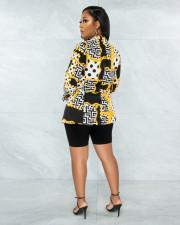 Casual Printed Long Sleeve Blazer Coat APLF-5089