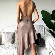 Sexy Backless Lace Up Party Evening Dress FL-93673