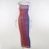 Sexy Spaghetti Strap Slim Dress FL-HY21115