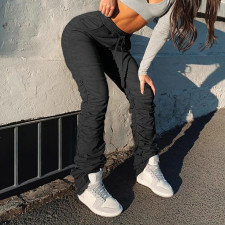 Simple Casual Pleated Stacked Sweatpants FL-20388