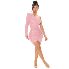 Sexy Sequin One Shoulder Club Dress ME-S953