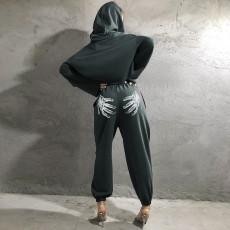 Palm Print Casual Sweatpants FL-YJ21072