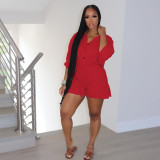Plus Size Fashion Casual Solid Color Rompers HGL-H1685