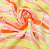 Plus Size Fashion Sexy Sling Striped Print Long Dress CYA-CY1667