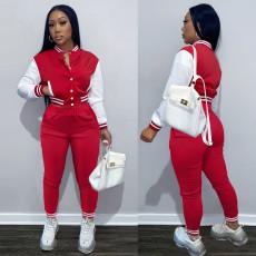Casual Baseball Jacket And Pants 2 Piece Sets FSL-F176