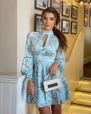 Sexy Printed High Waist Long Sleeve Mini Dress CY-6544