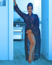 Sexy Lace Full Sleeve Sashes Long Coat YUYF-6111