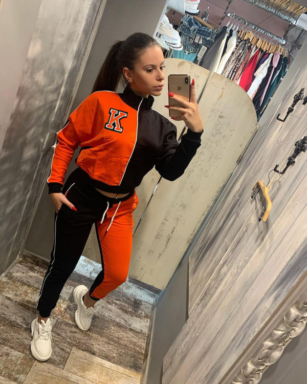 Casual Sports Patchwork Long Sleeve 2 Piece Sets HM-6531