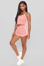 Sexy Fitness Cami Top And Shorts 2 Piece Sets MZ-2674