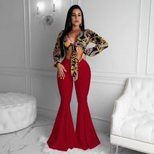 Plus Size Fashion Slim Flare Pants NY-8907