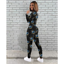 Casual Print Long Sleeve Pants Two Piece Sets NY-2046