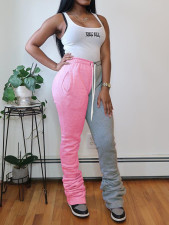 Casual Color Block Ruched Pants NY-2051