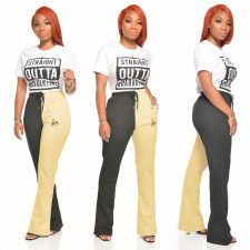 Color Block Plus Size All-match Casual Pants NY-8899
