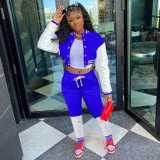 Casual Baseball Jacket And Pants Two Piece Sets ARM-8313