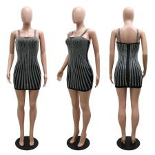 Sexy Hot Drilling Sling Bodycon Night Club Dress CYA-9316