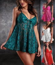 Cheap Flower Lace Babydoll Dress YQ-128