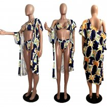 Sexy 3pcs Swimsuit Long Cloak And BIkini Sets MDF-5073