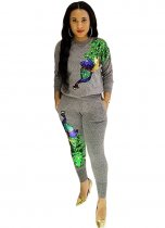 Sequin Casual 2pcs Pant Sets BN-9056