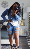 Denim Sexy Broken Holes Jeans Shorts LA-3108